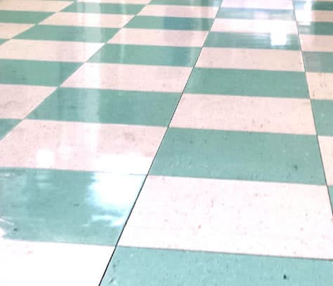 VCT Floor After Maintenance Services from Black Rhino Floors