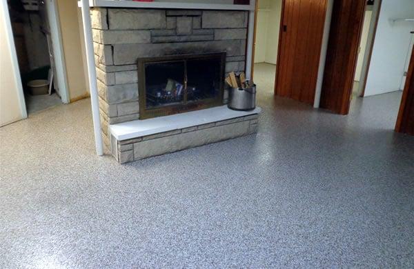 Residential Concrete Floor Coatings - Basement