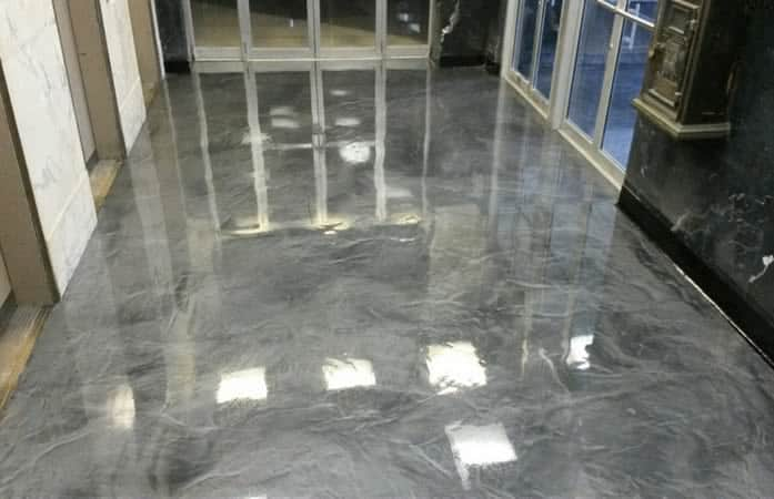 Retail Epoxy Metallic Floor Coating