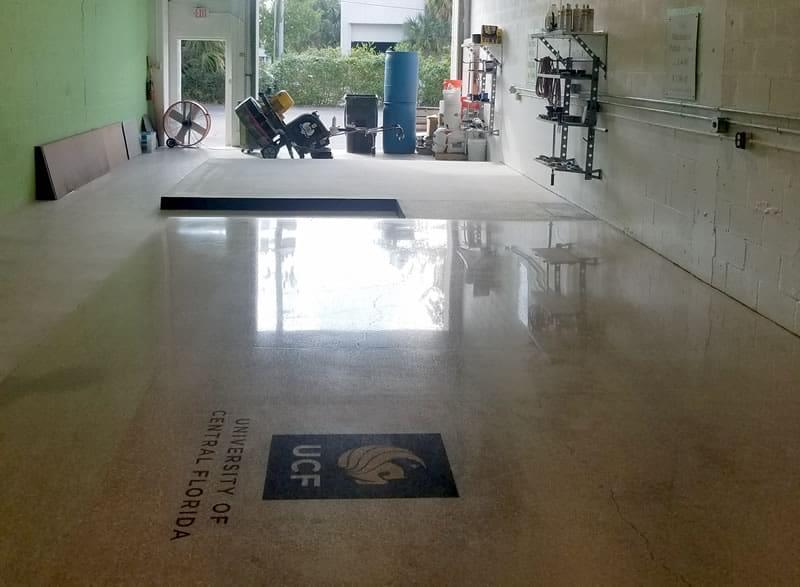 Floor Finishing Service with Logo