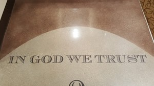 In God We Trust Floor Stencil Graphic