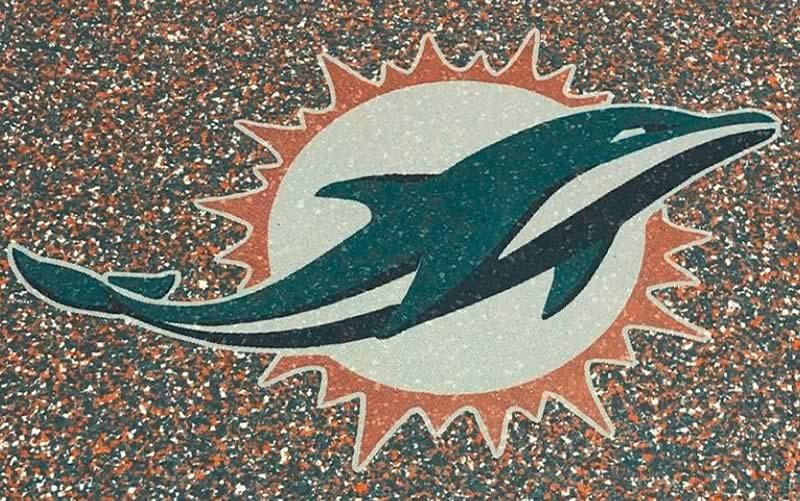 Mesh Dolphin Floor Stencil