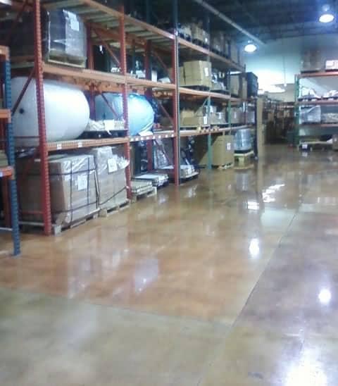 Polished Concrete Acid Stain Warehouse Storage
