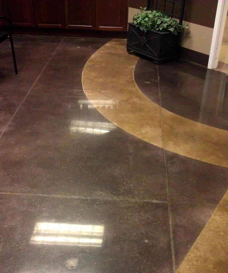 Polished Concrete with Decorative Curve