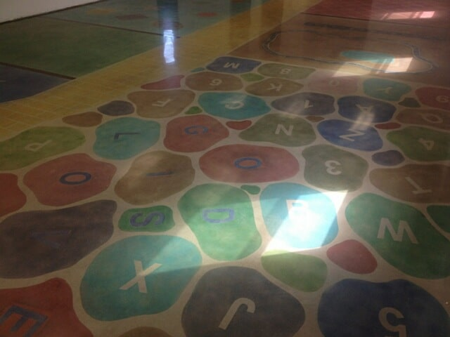 Polished Concrete Floor with Stencil