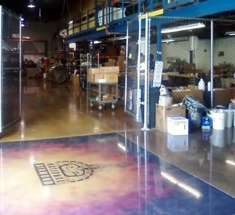 Polished Concrete Acid Stain with Logo