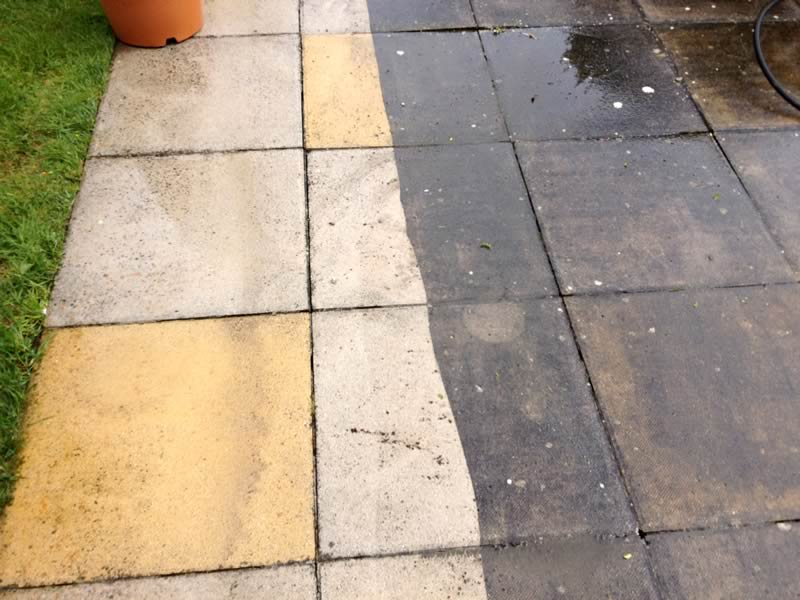 Pressure Washed Pavers - Floor Maintenance