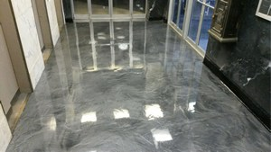 Retail Epoxy Floor Metallic