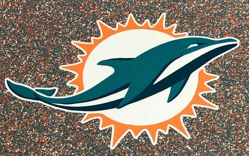 Solid Dolphin Floor Stencil