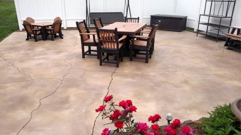 Stained Concrete Patio Surface