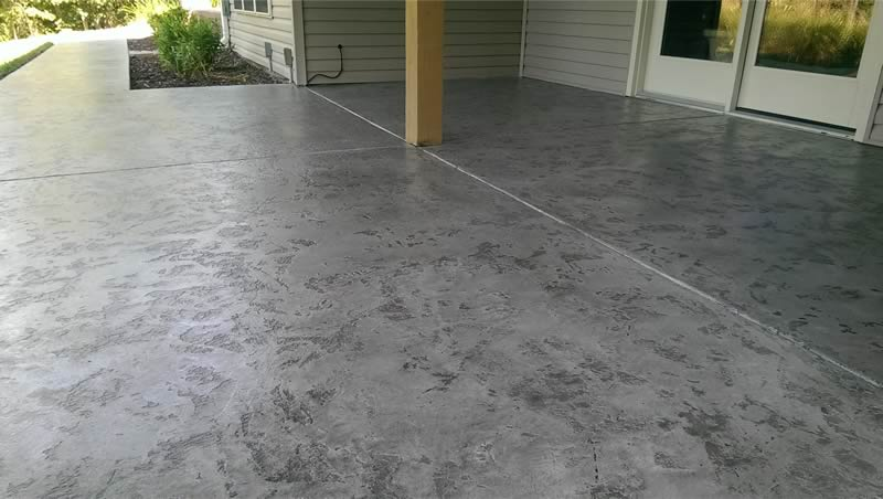 Stained Concrete Sidewalk and Front Porch