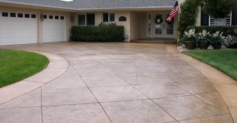 Stained Driveway Coating